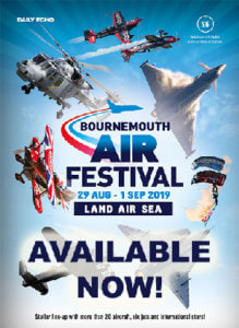 Bournemouth Air Festival logo and brouchure pre-order text