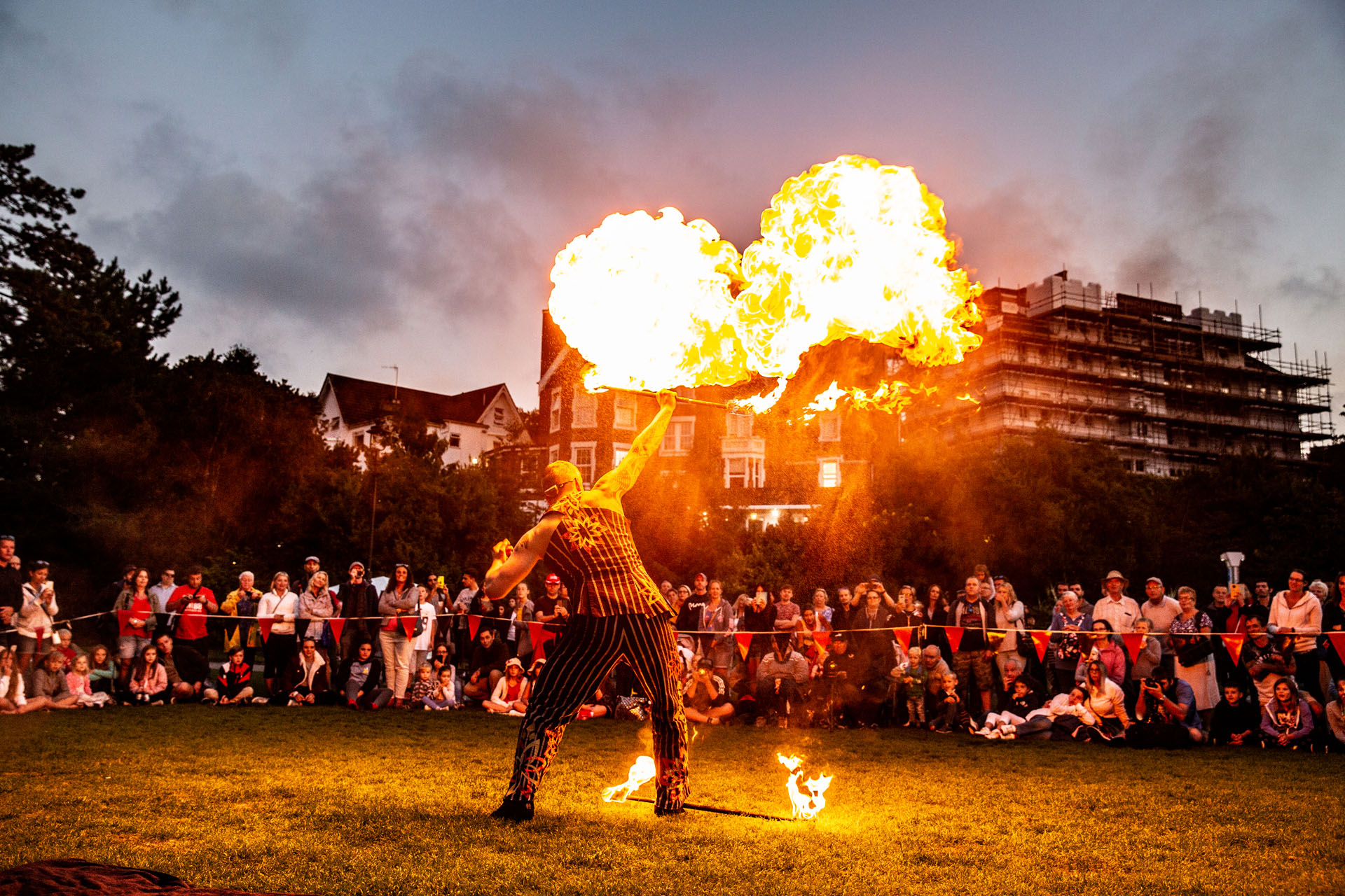 Epic fire performance for families in the Lower Gardens