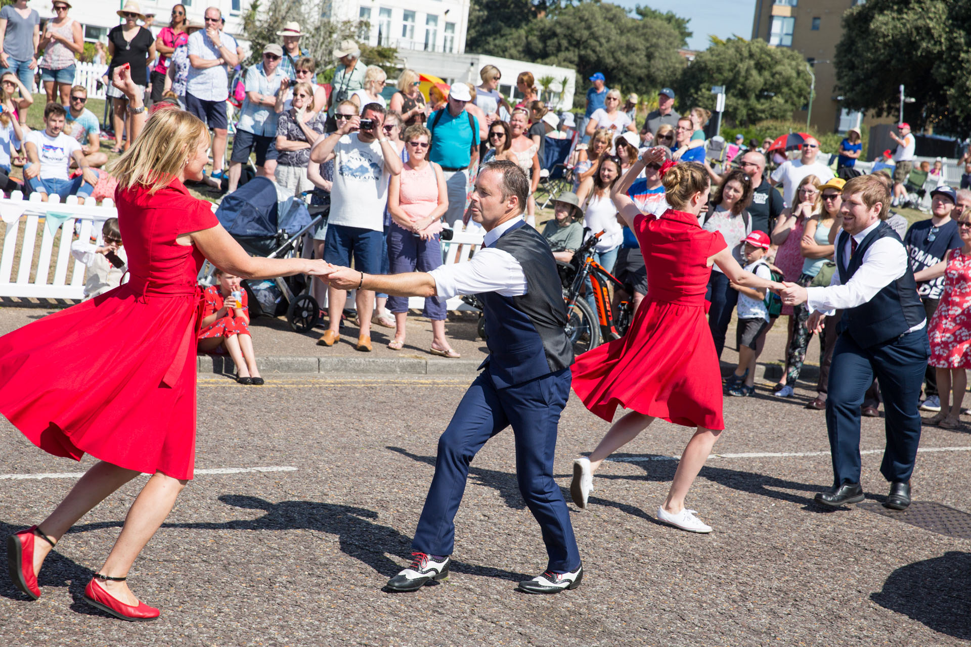 Vintage dancers at the Bournemouth Air Festival
