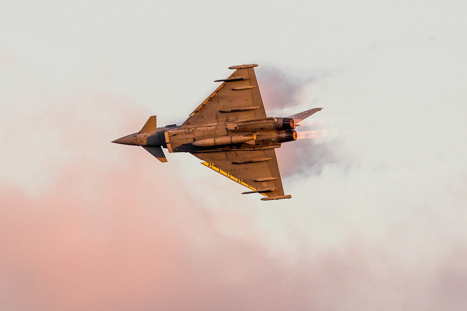 The famous typhoon roaring through the sun kissed sky for its dusk display